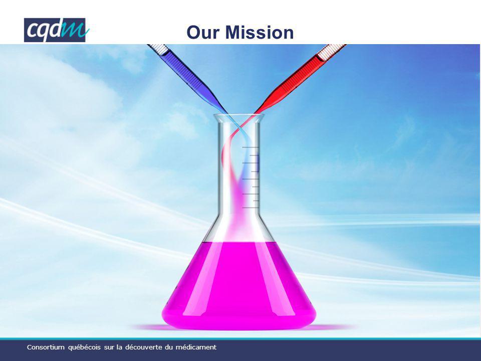 Consortium québécois sur la découverte du médicament Our Mission