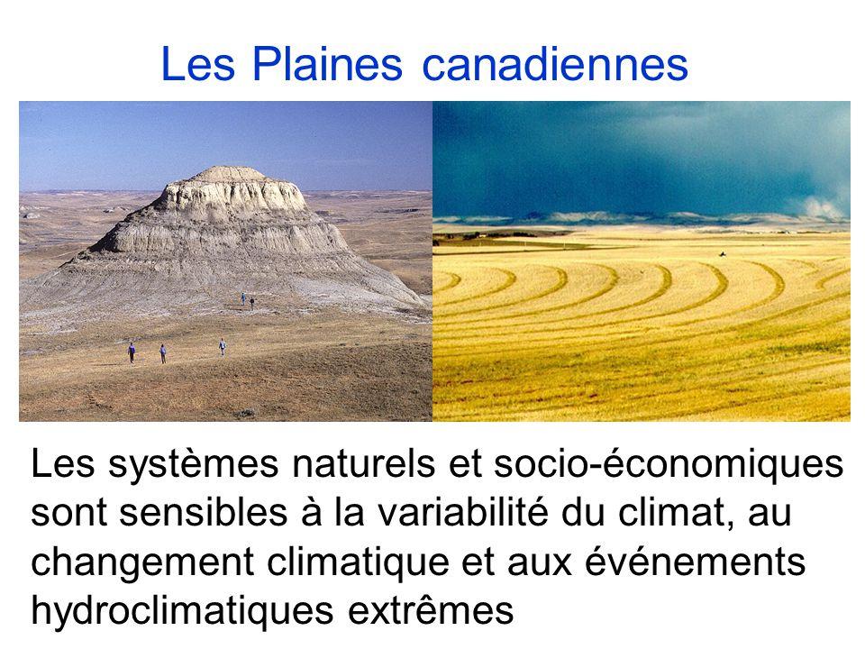Les systèmes naturels et socio-économiques sont sensibles à la variabilité du climat, au changement climatique et aux événements hydroclimatiques extrêmes Les Plaines canadiennes