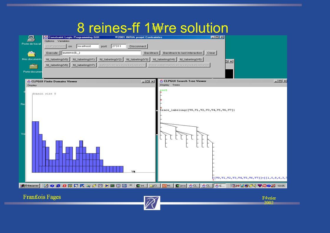 Franois Fages Fvrier 2002 Vue 3D de l'abre de recherche