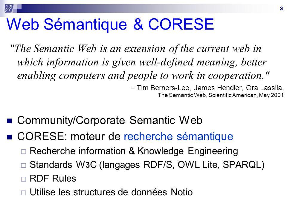 3 Web Sémantique & CORESE
