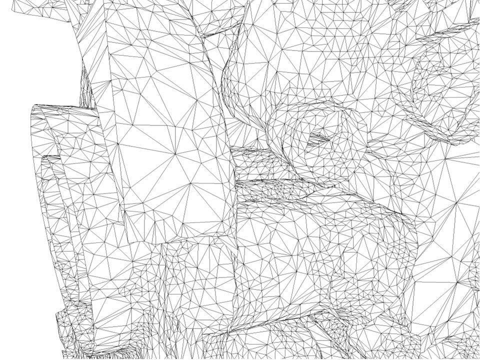 23 Surfaces non lisses à bord données bruitées Echantillonnage et maillages de surfaces Développements futurs et questions ouvertes Interpolation sur des surfaces