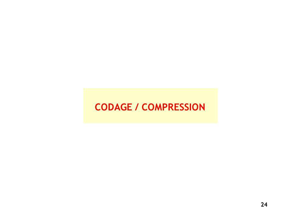 24 CODAGE / COMPRESSION