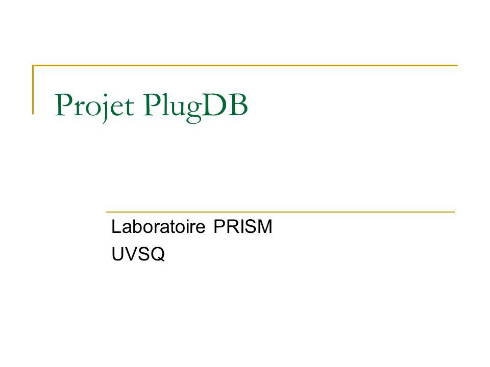 Projet PlugDB Laboratoire PRISM UVSQ
