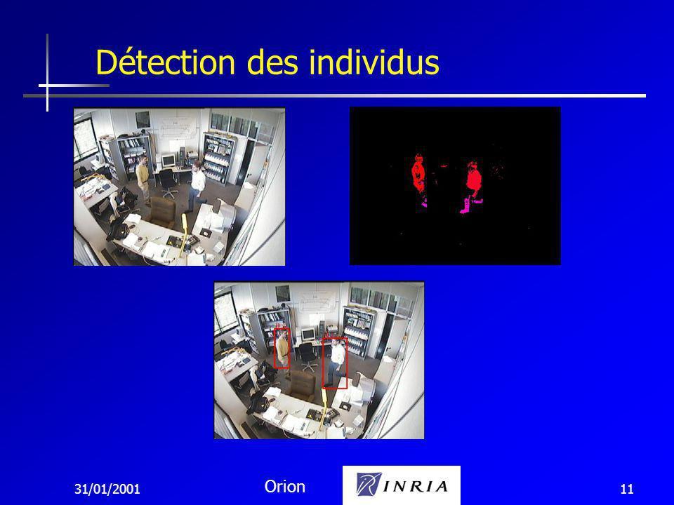 31/01/2001 Orion 11 Détection des individus