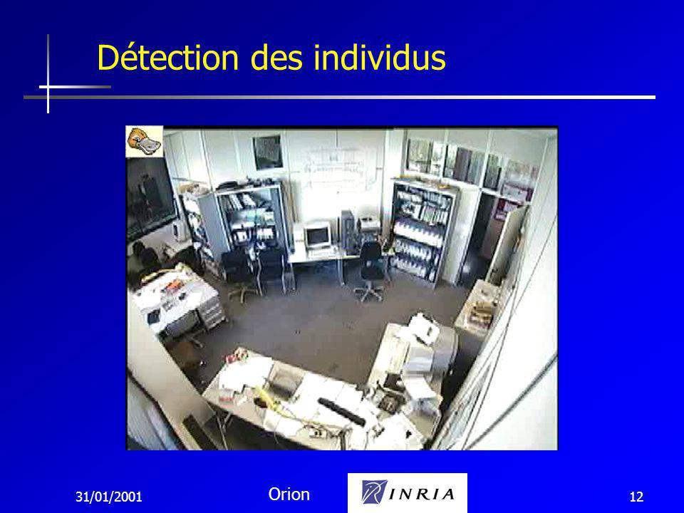 31/01/2001 Orion 12 Détection des individus
