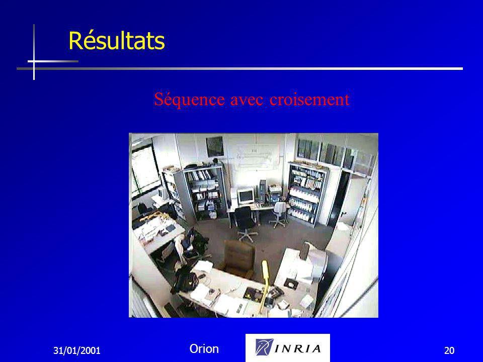 31/01/2001 Orion 20 Résultats Séquence avec croisement