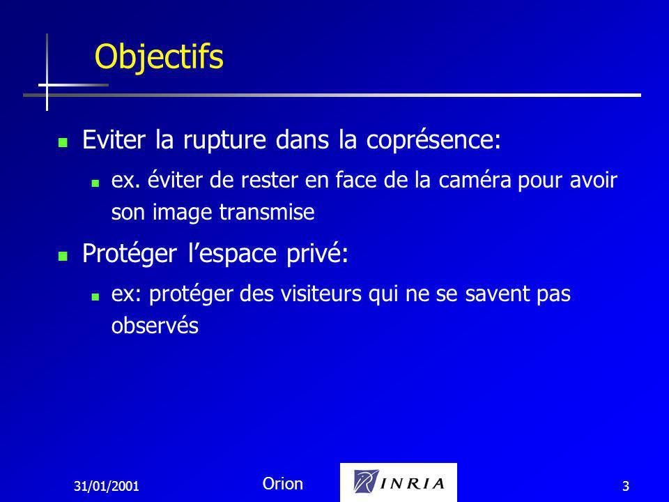 31/01/2001 Orion 3 Eviter la rupture dans la coprésence: ex.