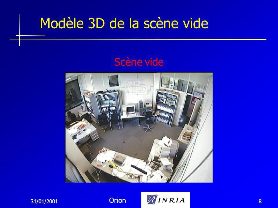 31/01/2001 Orion 8 Modèle 3D de la scène vide Scène vide