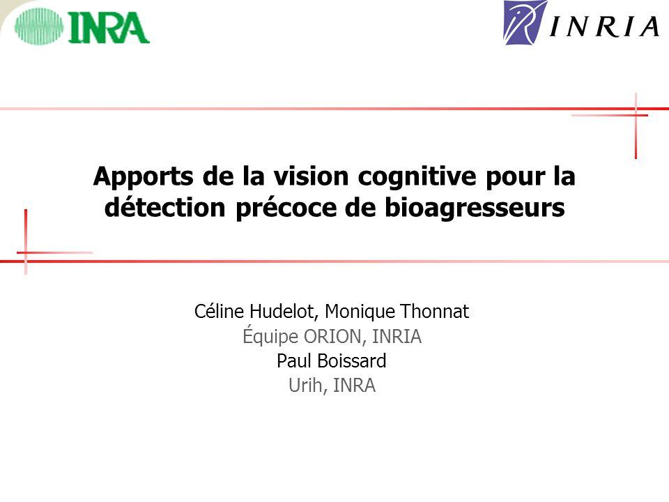Apports de la vision cognitive pour la détection précoce de bioagresseurs Céline Hudelot, Monique Thonnat Équipe ORION, INRIA Paul Boissard Urih, INRA