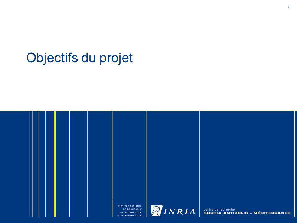 8 Objectifs du projet (1/2) Contributions dans plusieurs domaines 1.