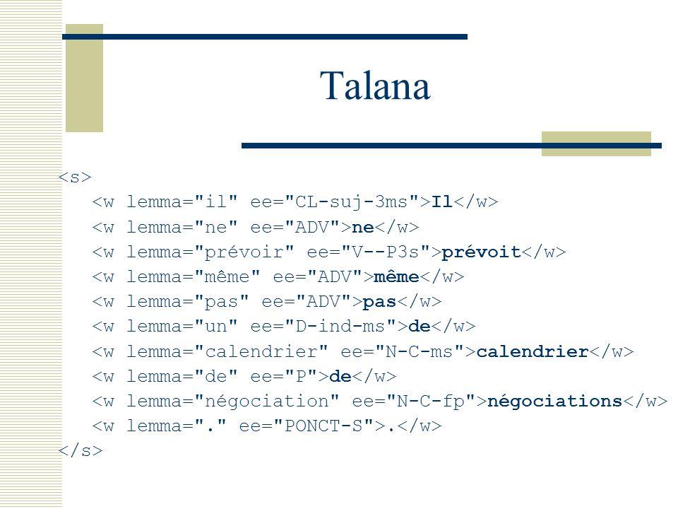 Talana Il ne prévoit même pas de calendrier de négociations.