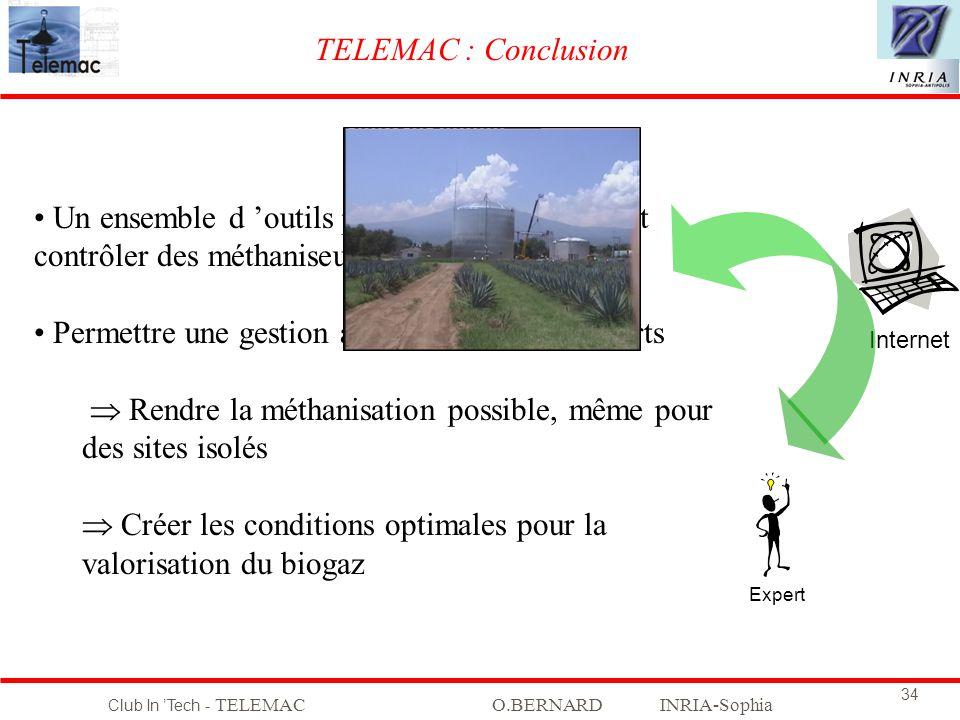 Club In Tech - TELEMACO.BERNARD INRIA-Sophia 34 TELEMAC : Conclusion Expert Internet Un ensemble d outils pour mieux surveiller et contrôler des métha