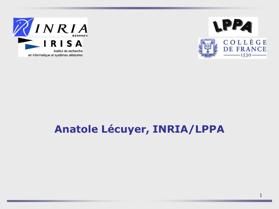 1 Anatole Lécuyer, INRIA/LPPA