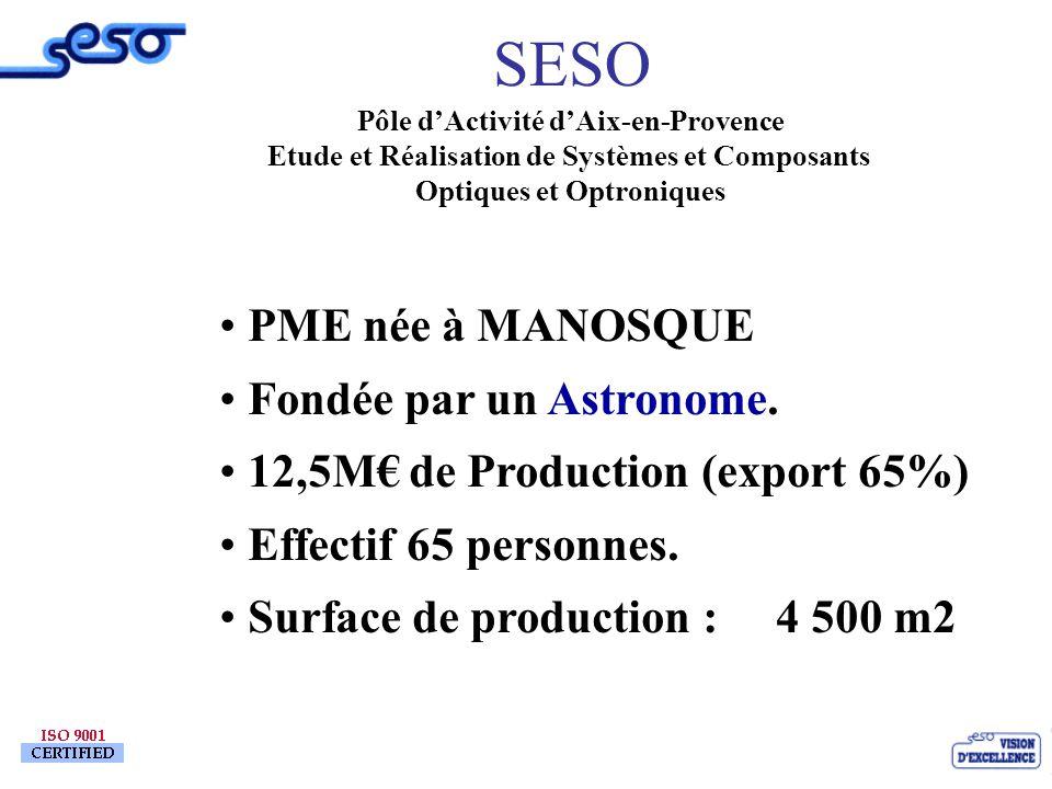 www.popsud.org 16 Mars 04 19 Patrick BARAONA SESO PME née à MANOSQUE Fondée par un Astronome. 12,5M de Production (export 65%) Effectif 65 personnes.