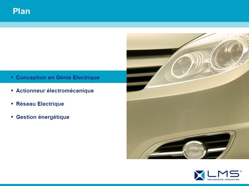 Plan Conception en Génie Electrique Actionneur électromécanique Réseau Electrique Gestion énergétique