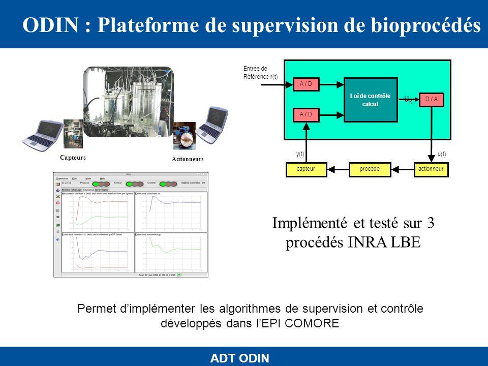 ADT ODIN 1-Fonctionnement sur un µPC et sur divers plateformes 2-Enrichi de nouvelles bibliothèques et fonctionnalités 3- Sinterfaçant à une base de données et à dautres plateformes de calcul scientifique µPC Gumstix : $130, format boite de chewing-gum, (processeur de PDA), 64 Mo de mémoire (+4Mo flash).