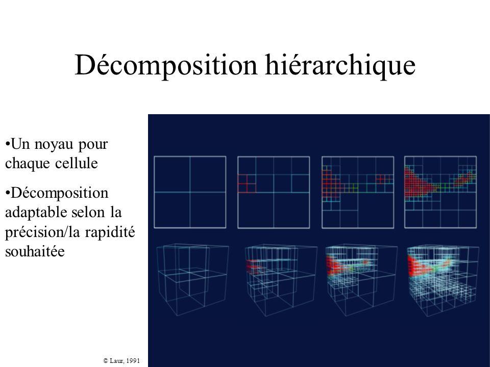 Décomposition hiérarchique © Laur, 1991 Un noyau pour chaque cellule Décomposition adaptable selon la précision/la rapidité souhaitée
