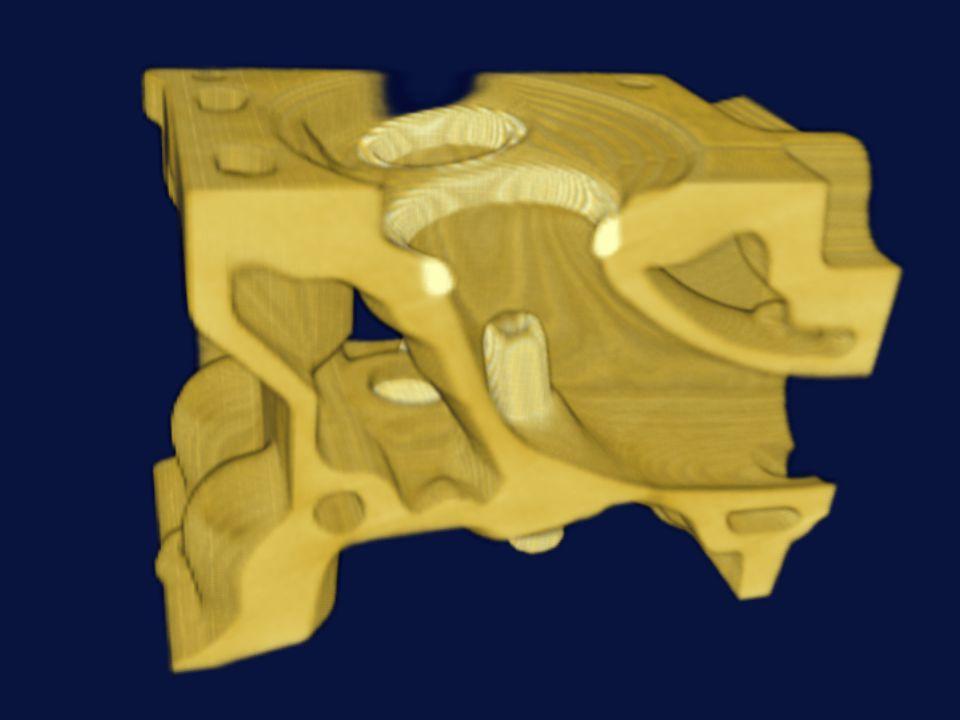 Utilisation du hardware Textures 3D : –Construire une texture 3D à partir des données –Utiliser la texture 3D pour l affichage Plans parallèles semi-transparents texturés –De l arrière vers l avant C est la carte qui fait tout –Conversion de coordonnées, extraction de textures...