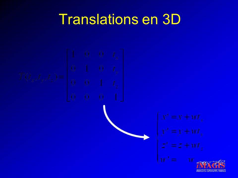 iMAGIS-GRAVIR / IMAG Translations en 3D