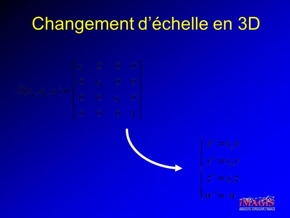 iMAGIS-GRAVIR / IMAG Changement déchelle en 3D