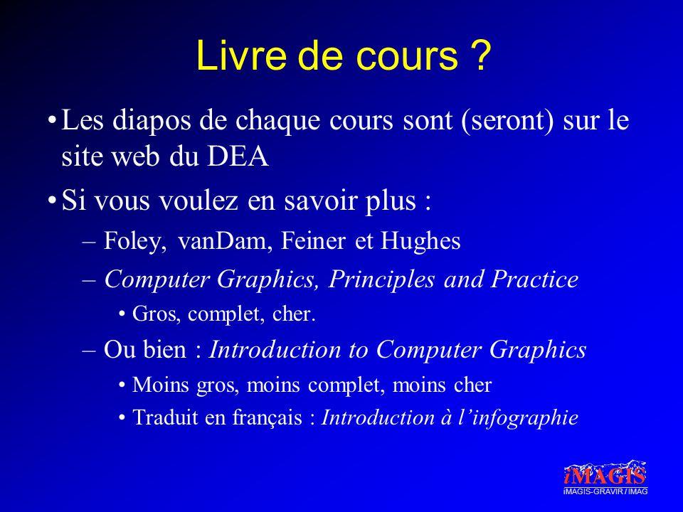 iMAGIS-GRAVIR / IMAG Livre de cours .