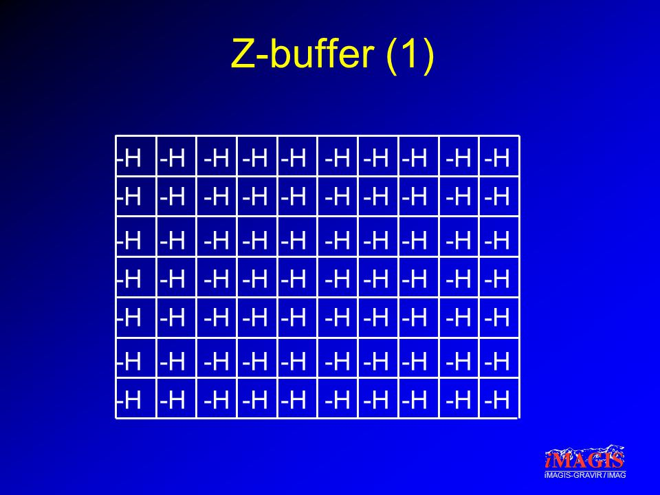 iMAGIS-GRAVIR / IMAG Z-buffer (1) -H