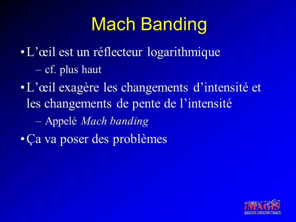 iMAGIS-GRAVIR / IMAG Mach Banding Lœil est un réflecteur logarithmique –cf.