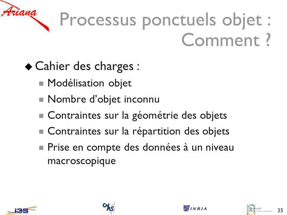 35 Processus ponctuels objet : Comment .