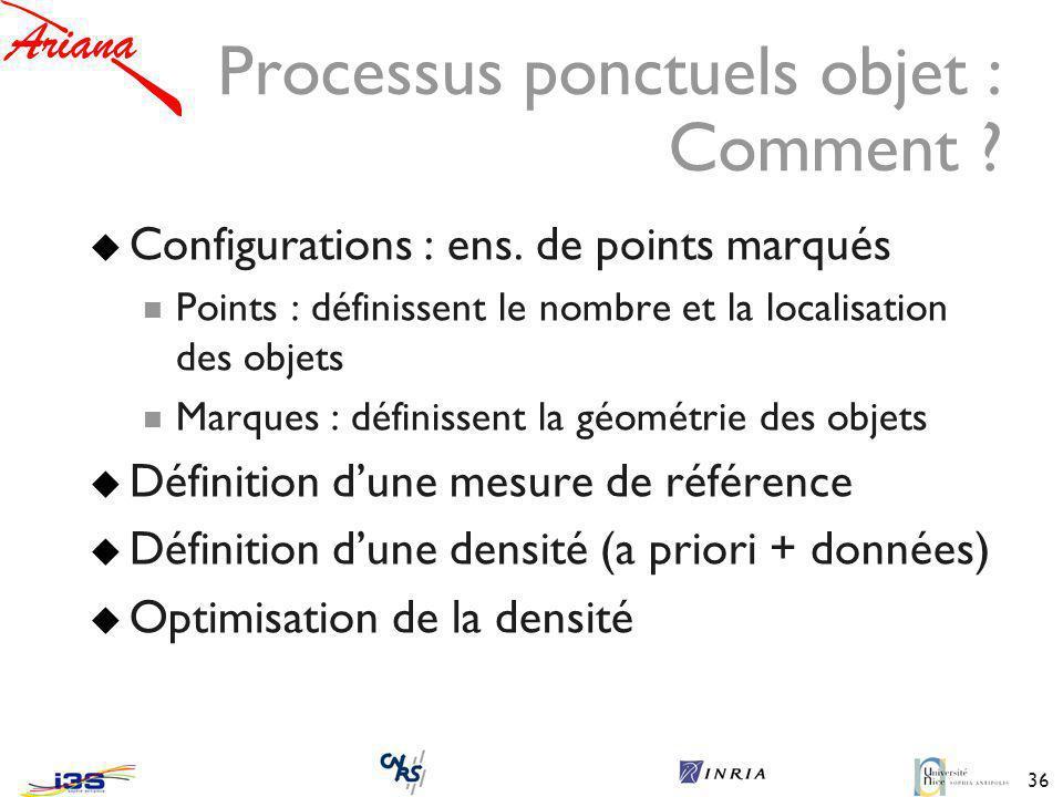 36 Processus ponctuels objet : Comment .Configurations : ens.