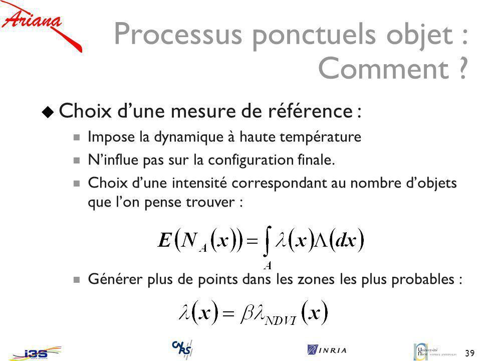 39 Processus ponctuels objet : Comment .