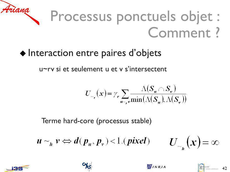 42 Processus ponctuels objet : Comment .