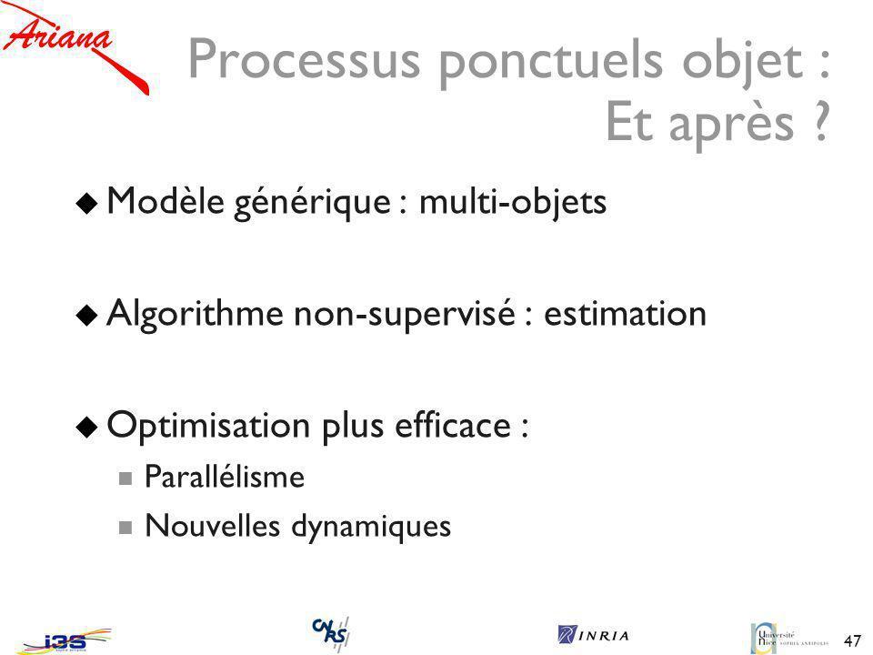 47 Processus ponctuels objet : Et après .