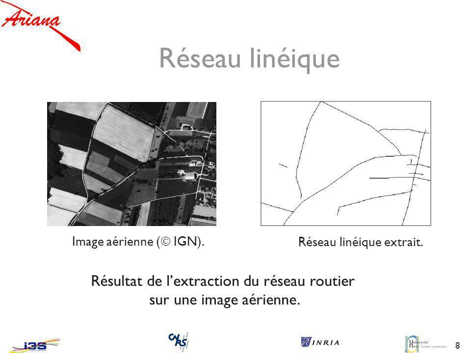 8 Image aérienne ( IGN).Résultat de lextraction du réseau routier sur une image aérienne.