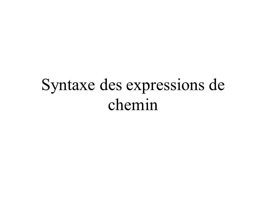 Syntaxe des expressions de chemin