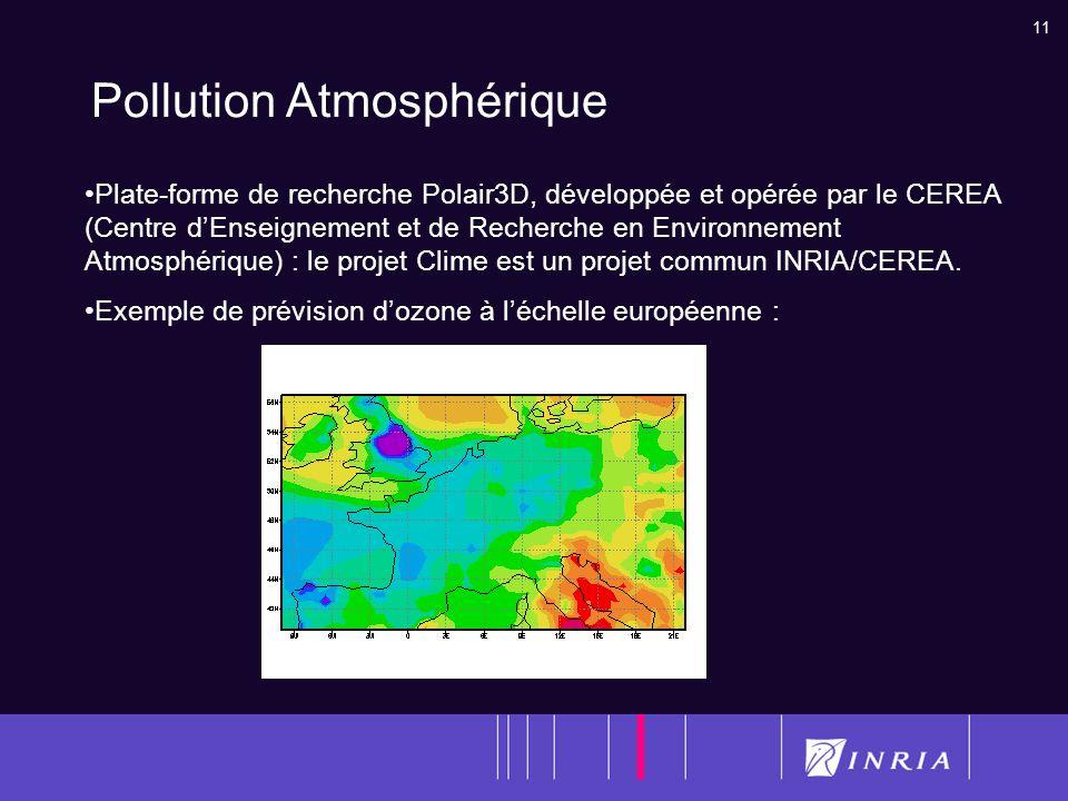 11 Pollution Atmosphérique Plate-forme de recherche Polair3D, développée et opérée par le CEREA (Centre dEnseignement et de Recherche en Environnement