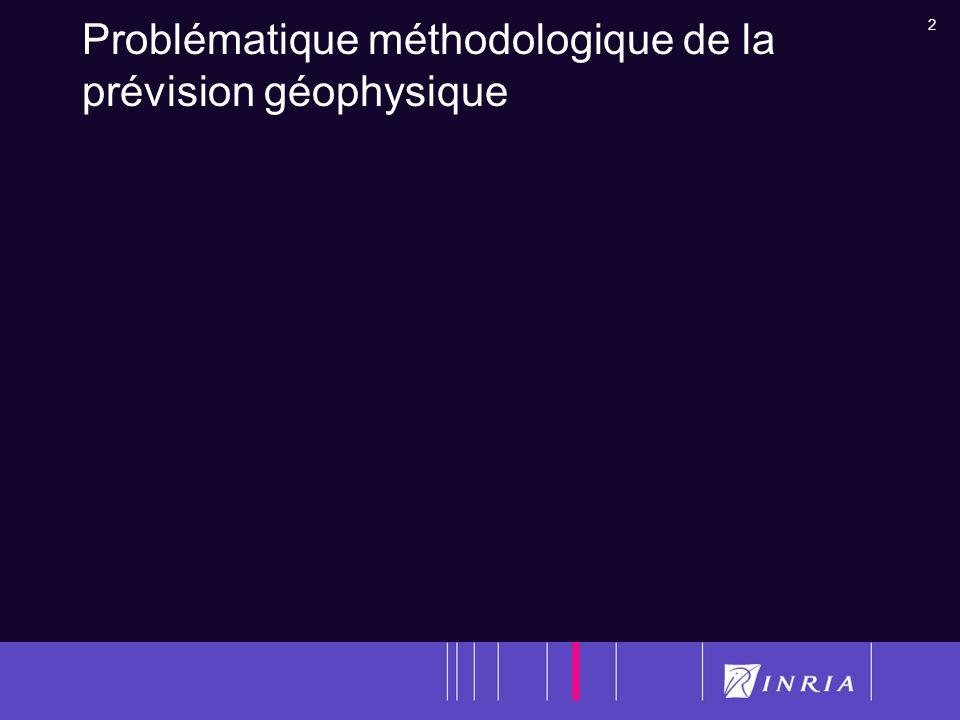 23 Assimilation de données images dans les modèles de prévision géophysique: problèmes Quelles images : statiques ou dynamiques.