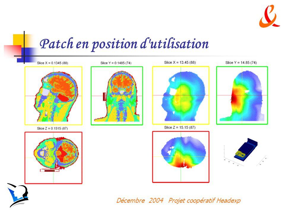 Décembre 2004 Projet coopératif Headexp Patch en position d utilisation