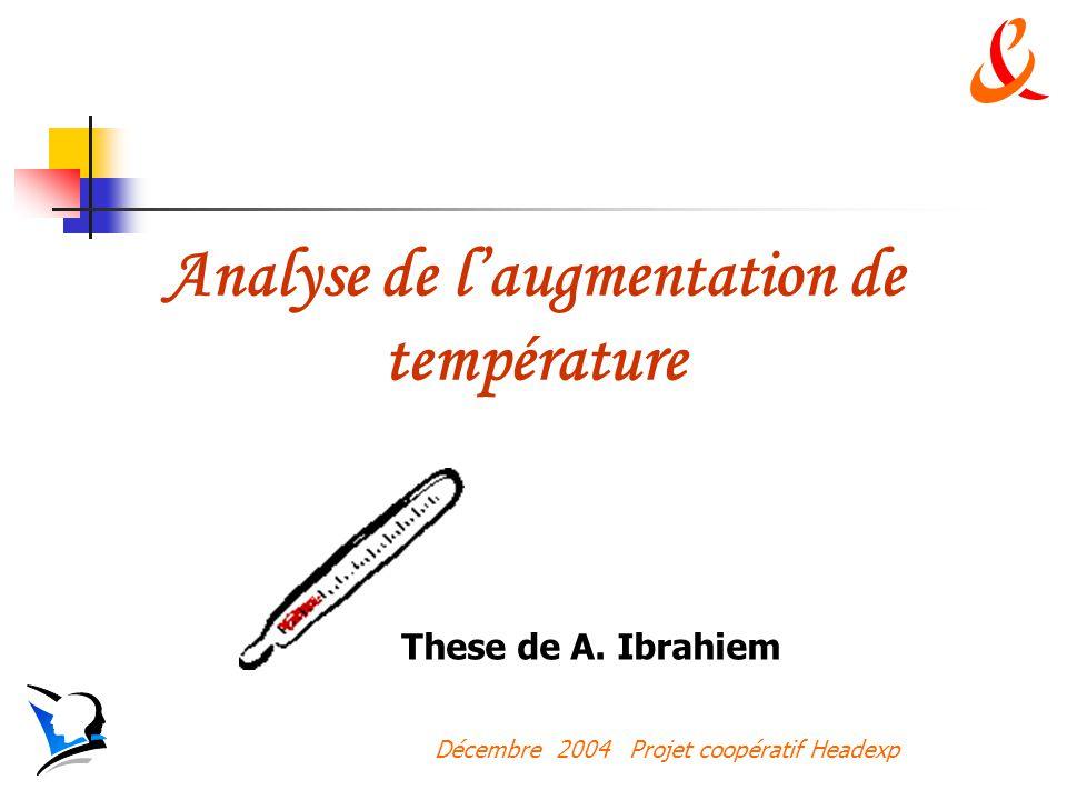 Décembre 2004 Projet coopératif Headexp Analyse de laugmentation de température These de A.