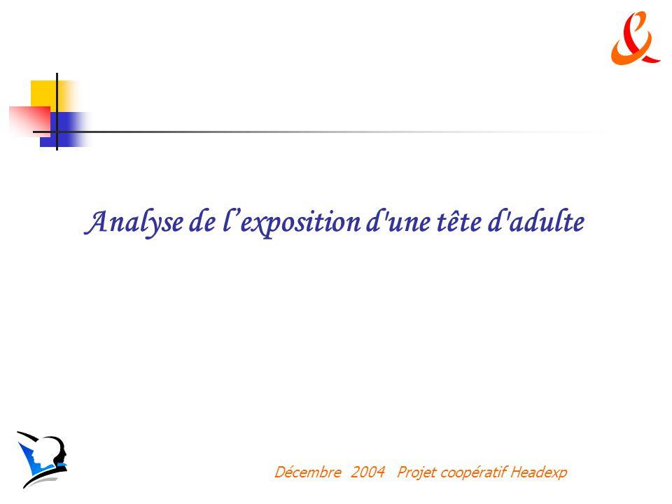 Décembre 2004 Projet coopératif Headexp Analyse de lexposition d une tête d adulte