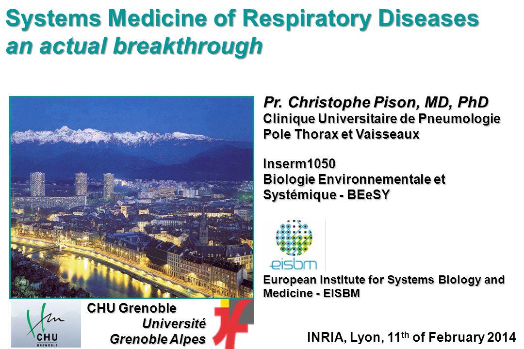 Pr. Christophe Pison, MD, PhD Clinique Universitaire de Pneumologie Pole Thorax et Vaisseaux Inserm1050 Biologie Environnementale et Systémique - BEeS