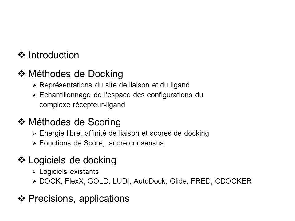 Docking par Monte Carlo T est réduite selon une procédure de refroidissement, une grille peut être utilisée pour les calculs d énergie.