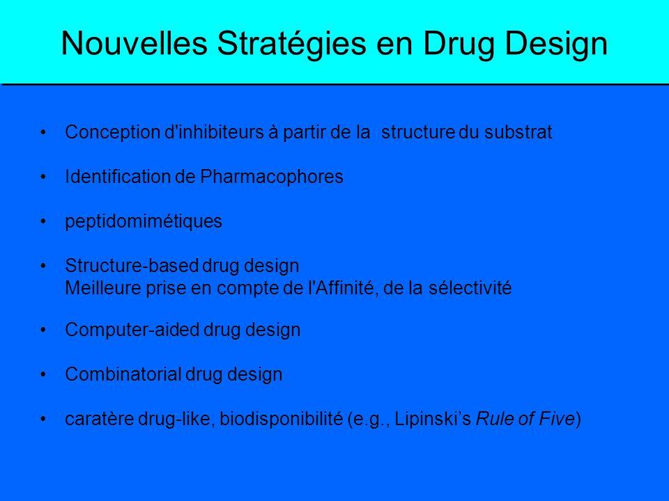 Nouvelles Stratégies en Drug Design Conception d'inhibiteurs à partir de la structure du substrat Identification de Pharmacophores peptidomimétiques S