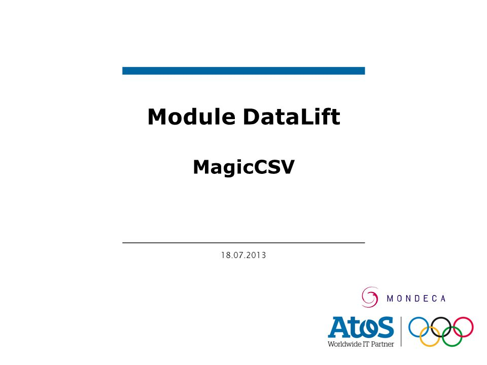 18.07.2013 Module DataLift MagicCSV