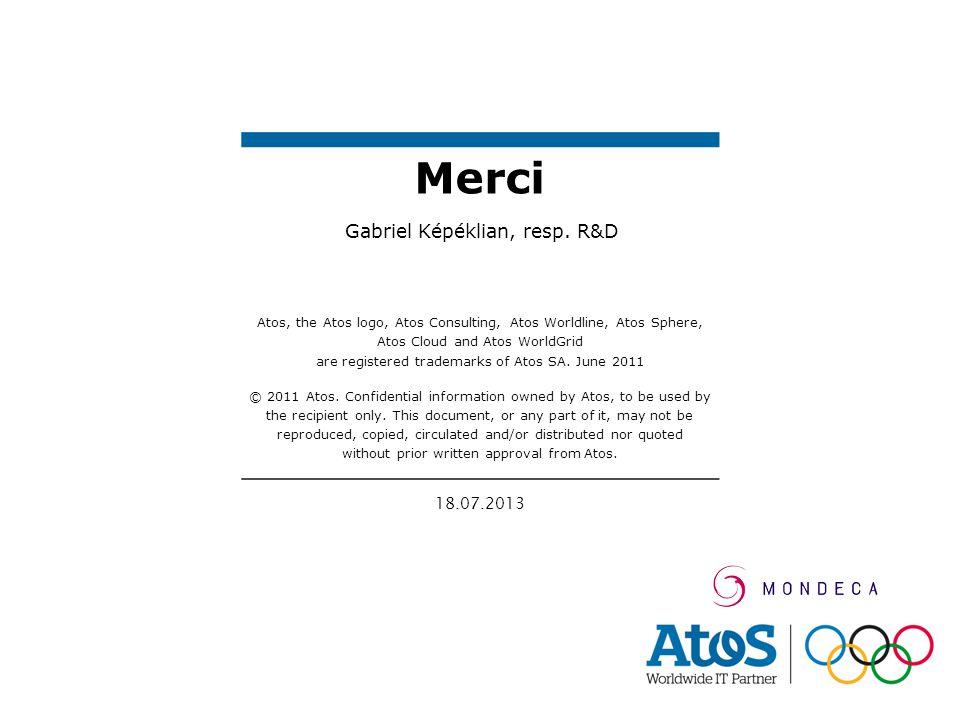 18.07.2013 Atos, the Atos logo, Atos Consulting, Atos Worldline, Atos Sphere, Atos Cloud and Atos WorldGrid are registered trademarks of Atos SA. June