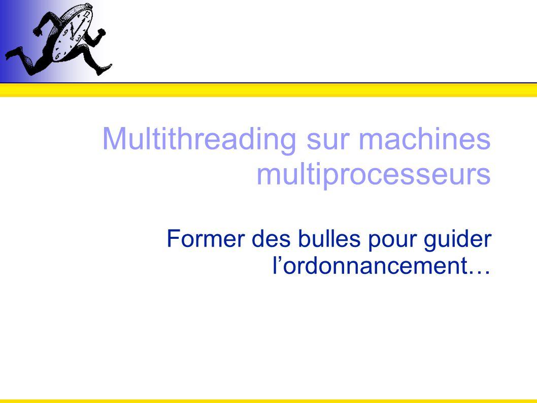 Multithreading sur machines multiprocesseurs Former des bulles pour guider lordonnancement…