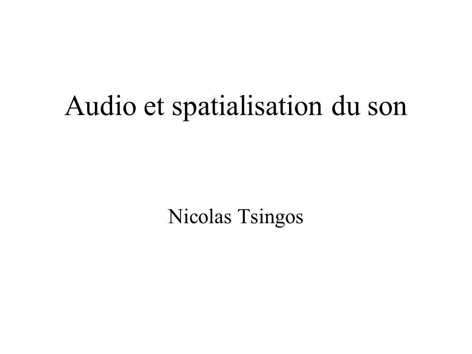 Audio et spatialisation du son Nicolas Tsingos