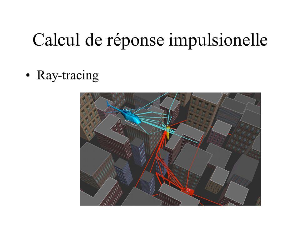 Calcul de réponse impulsionelle Ray-tracing