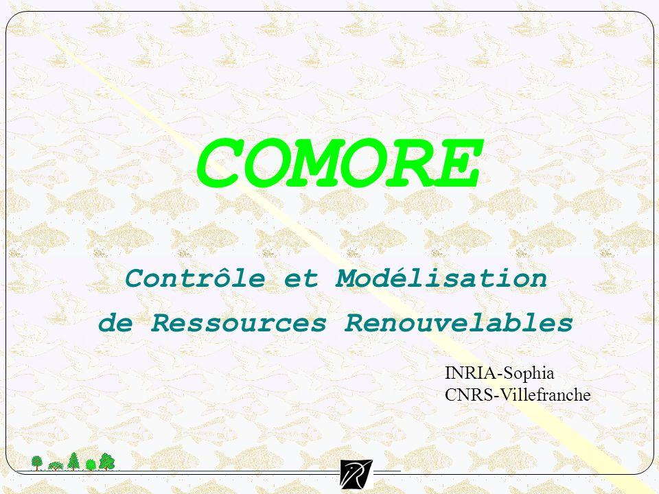 Objectifs Appliquer et de développer des méthodes de l automatique aux ressources vivantes exploitées (ressources renouvelables), afin d en améliorer la gestion.