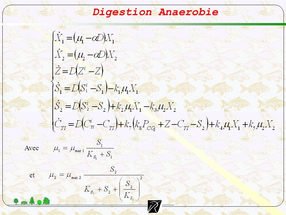 Digestion Anaerobie From Mass Balance Avec et