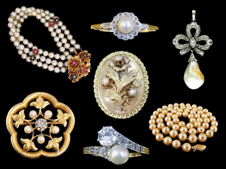 Les perles sont utilisées pour confectionner des bijoux depuis l'Antiquité ; elles étaient appelées les larmes d'Aphrodite. Les familles romaines qui